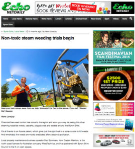 Article about SteamWeeders in The Byron Shire Echo